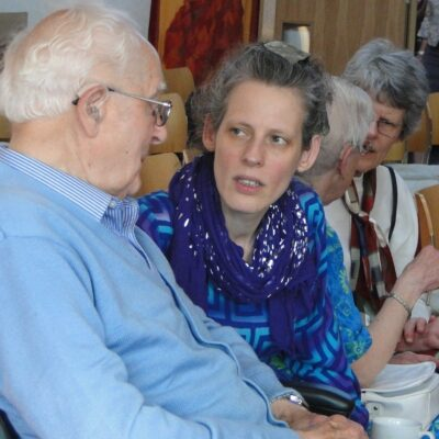 Anna Chaplaincy two people talking