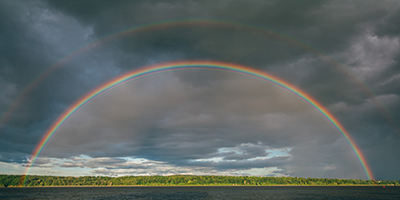 A colourful rainbow