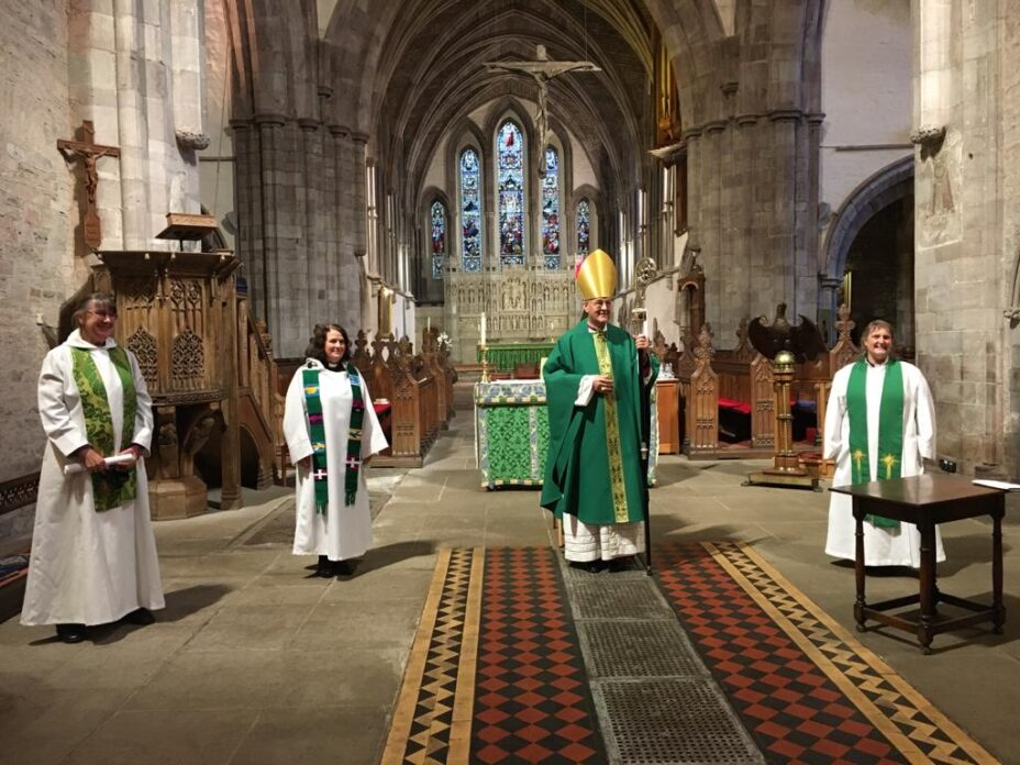 Sally Trina and Sue commissionings Brecon Cathedral Nov 15