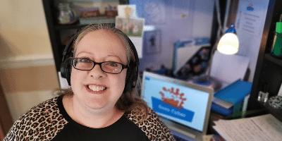 Vickie Heydon-Matterface who is leading Messy Church Goes Cyber