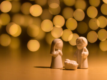 Mary and Joseph - Zechariah and the angel idea image