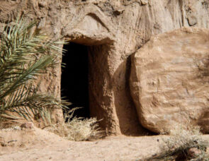Easter image of Jesus tomb