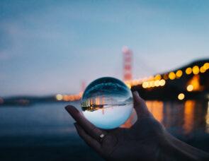 Looking through a glass ball
