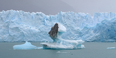 Blackened glacier