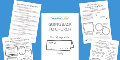 Parenting for Faith Going back to church downloadable pack