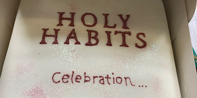 Holy Habits celebration cake
