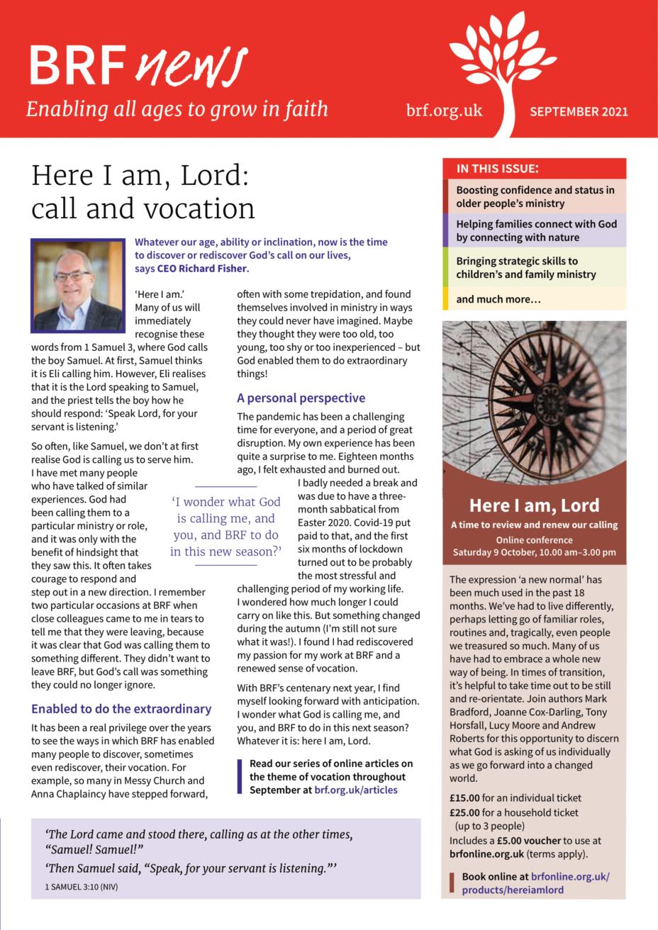 BRF News September 2021, Front cover